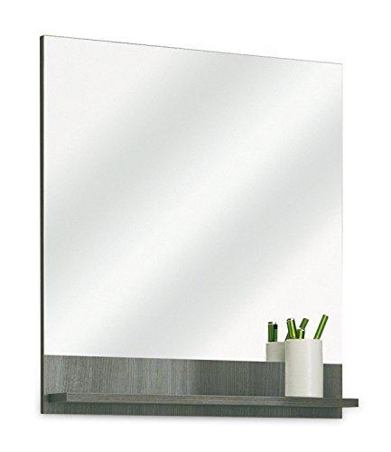 Badezimmerspiegel Badspiegel Wandspiegel | Graphit Struktur | Dekor | mit Ablage