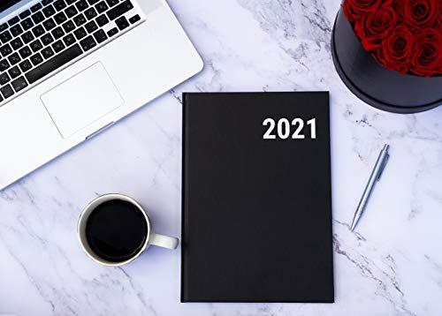 koalaplan Hardcover A4 Jahreskalender 2021 | 1 Woche 2 Seiten | Jahresplaner Terminplaner Terminkalender Buchkalender Kalenderbuch Wochenkalender Studienplaner Planer (Business Stil - schwarz)