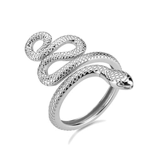 anello donna grande regolabile SALAN Anelli di Serpente Regolabili in Argento Sterling 925 Anelli di Serpente Grande Animale di Lusso di Lusso di Lusso Nuovo Cerchio Rotondo Donne Gioielli Anello