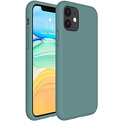 Miracase Liquid Silicone Case Compatible with iPhone 11 6.1 inch(2019), Gel Rubber Full Body Protection Shockproof Cover Case Drop Protection Case (Midnight Green)