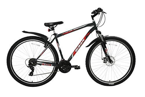 """T&Y Trade 29"""" 29 Zoll Herren Herrenfahrrad Herrenrad Jugend MTB Mountainbike Fahrrad Rad Bike Federgabel Gabelfederung Scheibenbremse Disk Shimano21 Gang 4500 Schwarz Rot"""