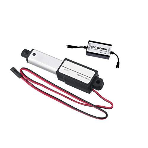 DIMENXONG Conjuntos y componentes electrónicos DIY DC12V 50mm Stroke Ventana eléctrica abrella de Puerta Motor Lineal (Size : Speed: 15mm/s)