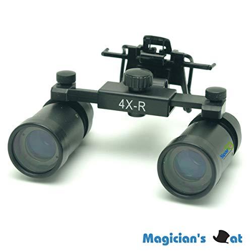 Spark 拡大鏡 4.0倍に拡大でき 専門 歯科用 精密360-460mm調整でき ヘッドルーペ メガネルーペ 折りたたみができ 製作 機械 作業 生物研究 開発 手術 歯科 医用 医者 眼科 外科にも使える 拡大鏡 虫眼鏡 双眼ルーペ 時計見ルーペ