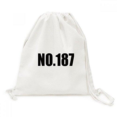 DIYthinker Glück No.187 Nummer Name Canvas-Rucksack-Reisen Shopping Bags