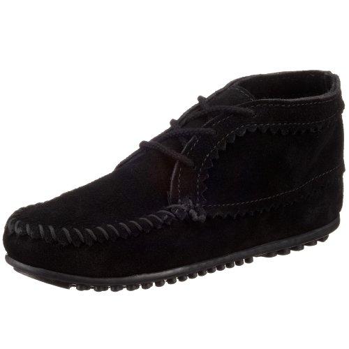 Minnetonka Women`s suede ankle boot 270, Damen Mokassins, Schwarz (Black 0), 41 EU