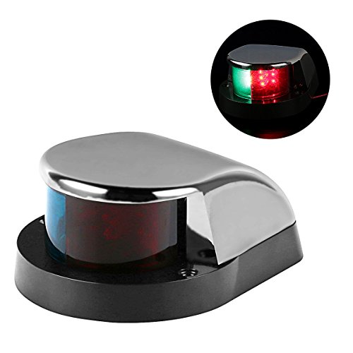 LEANINGTECH Boat Marine LED Navigation Lights Marine Navigation Lamp, Red and Green LED for Boat Pontoon Yacht Skeeter