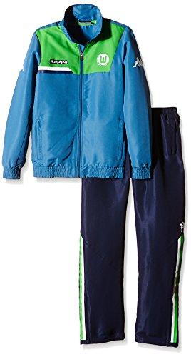 Kappa Kinder Jacke VFL Regenanzug, Blau (833 Jeans), 164, 402330J