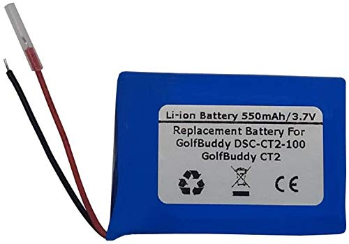 Save %39 Now! 3.7V 550mAh Replacement Battery for GolfBuddy DSC-CT2-100, GolfBuddy CT2, AEE542730P6H