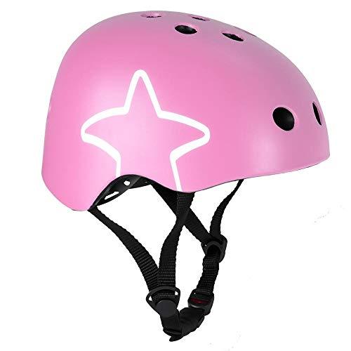 Cap De Bicicletas Niños Engranaje Protector Niñas Ciclismo Casco De Equitación Niños Bicicleta del Casco Ultraligero De Niños (Pink,S)