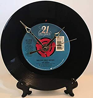 Record Clock - Recycled Jim Croce Vinyl 45 RPM - Bad, Bad Leroy Brown