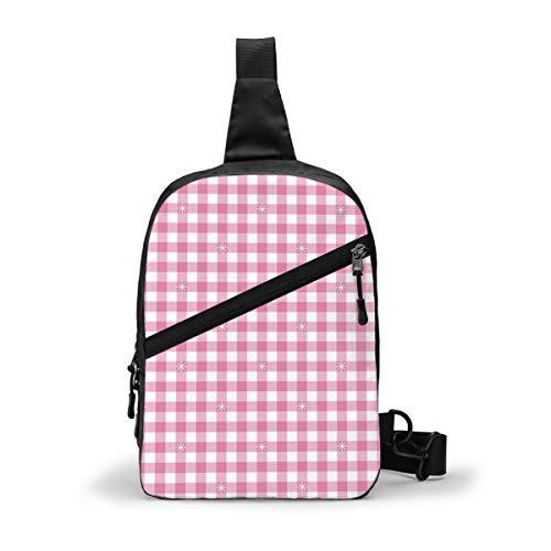 Borsone a quadretti rosa mucca Jumbo a quadretti verde a quadretti borsa a tracolla zaino casual zaino per uomo donna outdoor ciclismo escursionismo viaggio