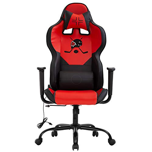 Office Chair Ergonomic PC Gaming Chair Desk Chair Executive Task Computer Chair Back Support Modern Executive Adjustable Arms Rolling Swivel Chair for Adults,Red