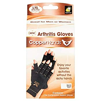 Copper Hands Fingerless Compression Gloves by BulbHead Provides Relief from Joint Tendon & Muscle Pain