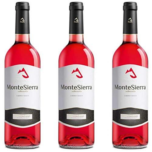 Montesierra Selección Vino Rosado Joven - 3 botellas x 750ml - total: 2250 ml