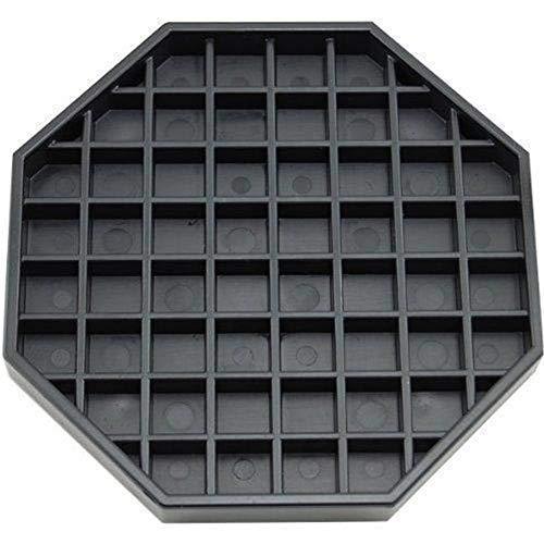 "Happy Reunion Coffee Countertop Octagon Drip Tray 6""Coffee Drip Tray Black Plastic Drip Tray for The Bar or Coffee Station (6"")"