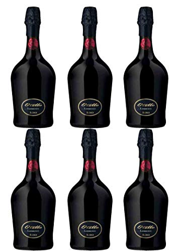 Vino Rosso Frizzante 6 bott. da 0,75 l. Otello 200 Lambrusco Emilia IGT - Cantina Ceci