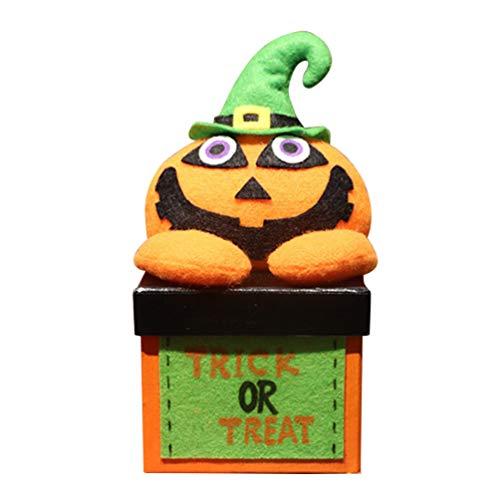 UPKOCH Halloween-Box Kürbis-Puppe, Süßigkeiten-Boxen für Kinder
