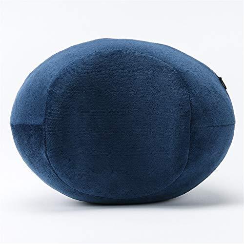 Ljings - Cuscino per ginocchio in memory foam, per migliorare la circolazione sanguigna e l'allineamento corretto della postura, blu navy, calcio