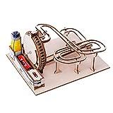 Marble Coaster Puzzle Games Modelo de madera 3D Puzzle de madera Kits de modelos mecánicos, 7.64x6.30x3.94inch 3D Marble Run Kits de modelos de madera para adolescentes y adultos