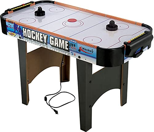 RVM Toys 102 cm Large Size Wooden Indoor Air Hockey Game Table Toy Indoor Game for Kids Boys Girls and Adults Multi Color