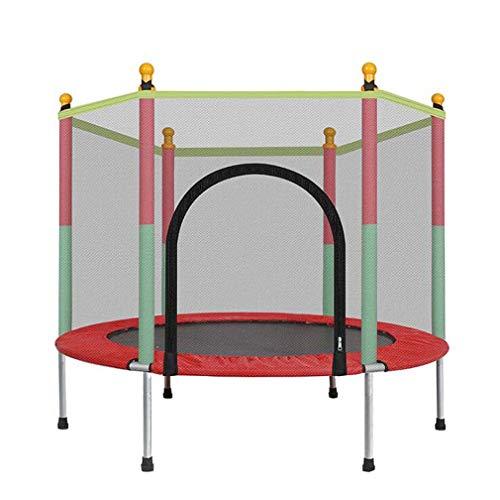 4,5ft trampoline voor kinderen, kleine trampoline met veiligheidsnet en windschermen regenhoes, ingebouwde, sterke springveren trampoline voor familie, maximaal draagvermogen 440 pond