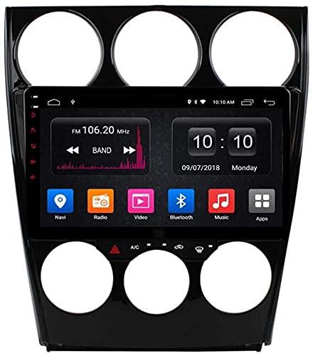 AEBDF Android UN Stereo para Mazda 6 2006-2015, Sat Nav Multimedia Player Pantalla táctil GPS Navegación Radio Soporte de Radio Carplay Incorporado,S1 4Core WiFi 1+16GB