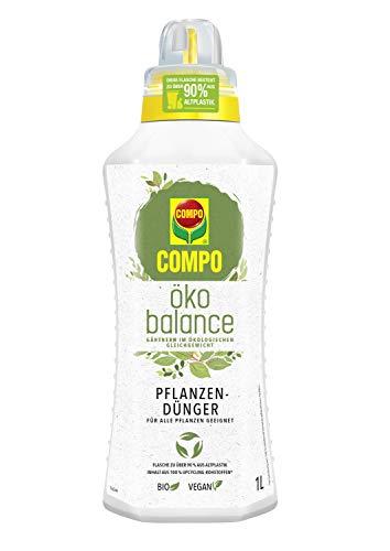 Compo öko balance Pflanzdünger, Für alle Pflanzen geeignet, Bio, Vegan, 1 Liter