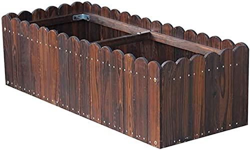 EIIDJFF Mesas de Cultivo Cama de Flores Rectangular Contenedor de plantación de jardinería al Aire Libre Caja de plantación de Cama de jardín elevada (Color:Natural;Size:80X40X30CM)