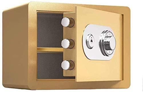Kluis safe beweegbare scheidingswand, ingebouwde alarm-systeem anti-diefstal vuur- en waterdicht elektronische mechanische blokkering veiligheidsbox 38 * 30 * 30cm meubelkluis (kleur: goud)