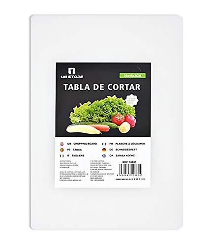 1MI STORE Tabla de Cortar Cocina, Material de Polietileno, Blanco (30x45x2cm)