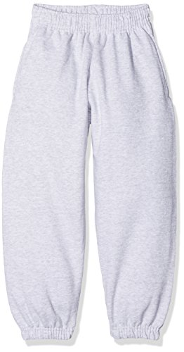 Fruit of the Loom Jungen Classic Elasticated Cuff Jog Pants Kids Sporthose, Grau (Heather Grey 123), 116 (Herstellergröße: 5-6)
