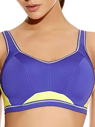 Freya Women's Epic Underwire Crop Top Sports Bra with Molded Inner, Indigo, 28D