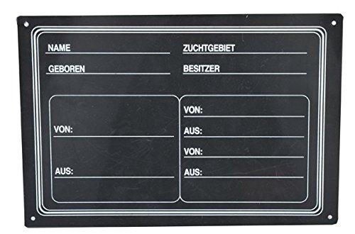 HKM 64949100 Stalltafel, schwarz, M, schwarz