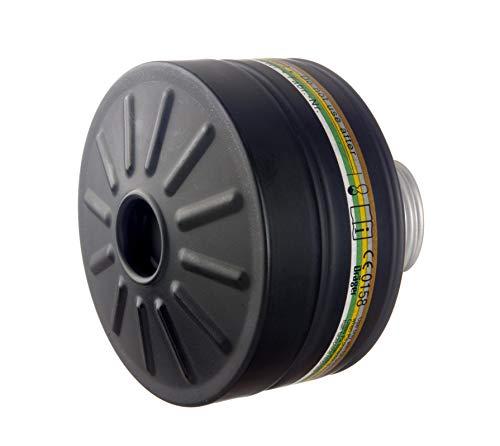 Dräger Rd40 Zivilschutz-Filter der Schutzklasse A2B2E2K2-P3 R D/NBC (Schwarz) für Gase, Dämpfe, Partikel   1 STK.   Kombinations-Filter für Vollmaske CDR 4500 - 2