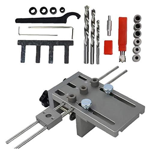 lulongyansf Punch Stellungslochbohrer Holzbearbeitung Werkzeug-Set 3 in 1 Silber Universal-High Precision Holz Jointing Bohrer