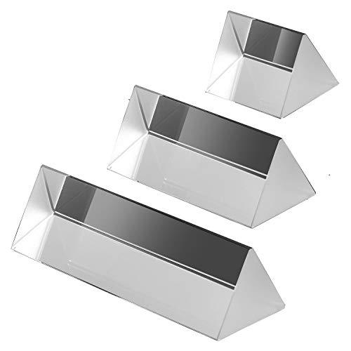 3 Set Kristall Optisches Glas Dreieckigen Prisma zum Unterrichten von Lichtspektrum Physik, Prisma Fotografie