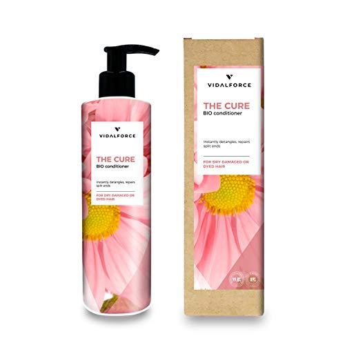 THE CURE Acondicionador sin sulfato sin siliconas -Tratamiento hidratante cabello- Acondicionador natural/Ecológico   Acondicionador pelo rizado o liso  Tratamiento cabello dañado, Seco o Teñido