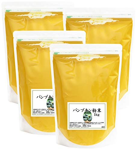 自然健康社 国産パンプキン粉末 1kg×4個 チャック付き袋入り