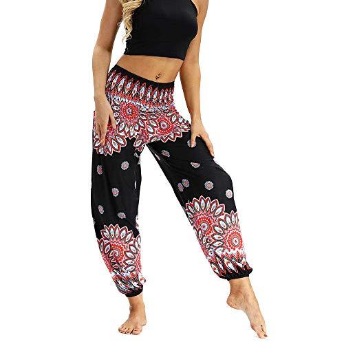 Cintura Alta Pantalón De Yoga Mujer,Patrón De Crisantemo Estampado Tradicional Verano Casual Pantalones Deportivos Transpirables Beam Dance Yoga Pants-Yci022_One_Size