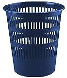 FELIXMANIA Papelera de Plástico de Rejilla 12 litros Azul