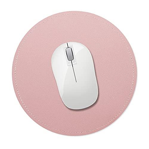 AtailorBird Alfombrilla de Ratón con Borde Cosido, Base de Pelusa de Microfibra Antideslizante, Mouse Pad para Ordenadores, Portátiles, Oficina y Hogar(Rosa)