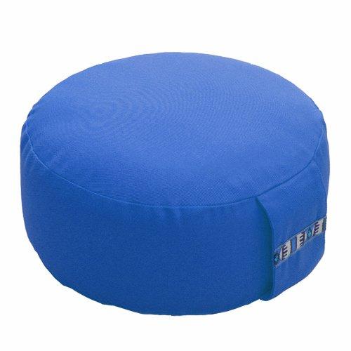 Lotus Design Cuscino da Meditazione, Basic-d 12cm, ca. 1.75kg, Light Blue