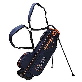Ram Golf Lightweight Stand Carry/Sunday Bag Navy/Orange