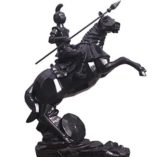 Mankvis Resina Caballero Estatua Escultura, Decoración del Hogar Samurai Modelo Artesanía Oficina Sala Balcón Gabinete Ornamento Decoración H30CM