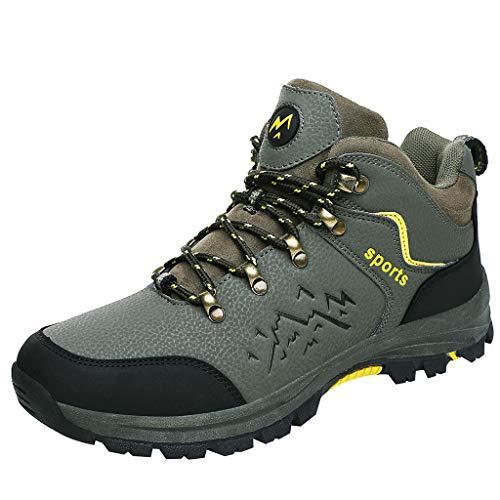 Zapatillas Antideslizantes De Running Hombres Usan Zapatos Impermeables para Caminar Al Aire Libre
