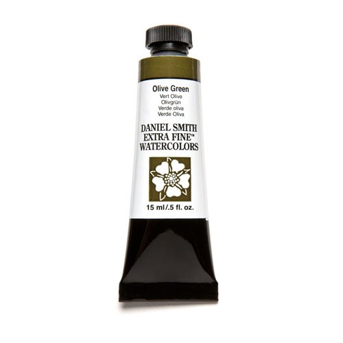 DANIEL SMITH Extra Fine Watercolor Paint, 15ml Tube, Olive Green, 284600063