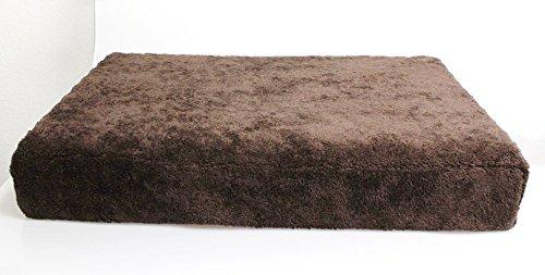 Eifa Viskoelastisches Hundebett in - Hundenest - Hundekorb - Hundesofa (Grau, 120 x 70 x 13 cm)