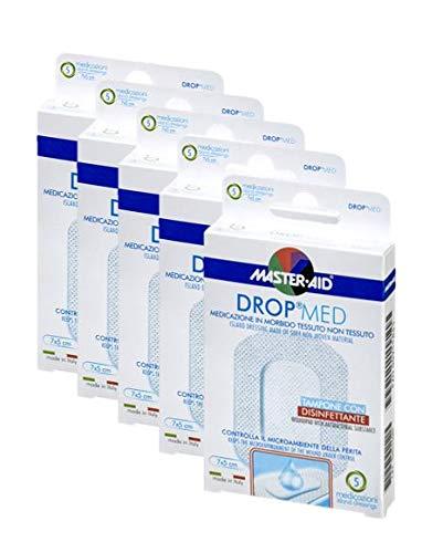 Vorteilspack, sensitive und luftdurchlässige Pflaster, hautfreundlicher Wundverband, DROP® MED MASTER AID (5 Boxen à 5 Pflaster (5cm x 7cm))