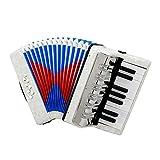 LuDa アコーディオン 17キー 8ベース ピアノアコーディオン 楽器 子供 音楽玩具 初心者向け ギフト 持ち運び便利