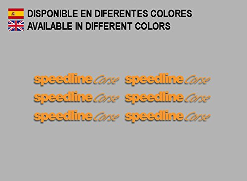 Ecoshirt AQ-9Q8A-W52P Aufkleber Speedline Corse F196 Stickers Aufkleber Decals Adesivi Rallye Racing, Orange